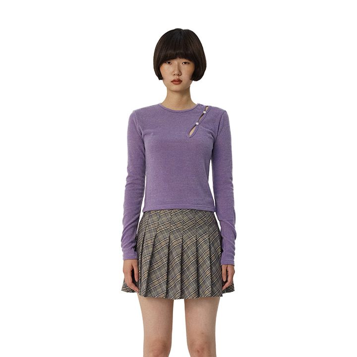 C GEM BUTTON CUTTING TOP_LIGHT VIOLET